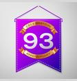 ninety three years anniversary celebration design vector image vector image