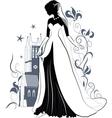 Ornate Bride Silhouette vector image vector image
