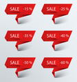 Paper red pointer sale vector image vector image