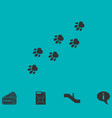 paw icon flat vector image vector image