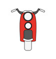 retro scooter motorcycle vector image vector image
