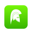 roman helmet icon digital green vector image vector image