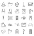 rooming house icons set outline style vector image vector image