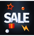 sale with elements on dark background vector image vector image