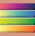 sao paulo multiple color gradient skyline banner vector image vector image