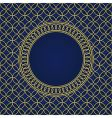 seamless pattern and round frame vector image