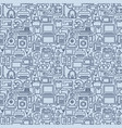 seamless pattern outline home appliances icons vector image vector image