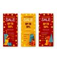 seasonal autumn sale or fall discount banner set vector image