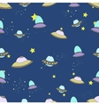 Space seamless pattern cartoon vector image