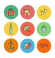 Summer hand drawn icons vector image