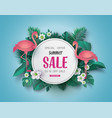 summer sale banner paper cut vector image