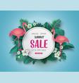 summer sale banner paper cut vector image