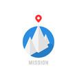 summit isometric mountain like leadership logo vector image vector image
