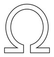 symbol omega icon black color flat style simple vector image vector image