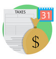 tax day concept icon vector image