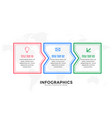 three steps infographic design template in line vector image vector image