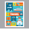 Travel - mosaic poster with icons in flat design vector image
