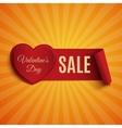 Valentines Day Sale banner on orange background vector image vector image