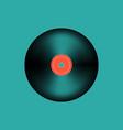 vinyl music record vintage gramophone disc vector image vector image
