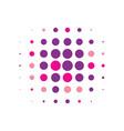 violet round halftone pattern design vector image