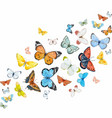 watercolor butterflies set vector image
