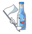 with flag bottle soda water isolated on mascot vector image vector image