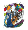 with Jazz players vector image
