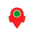 woman location abstract logo icon vector image vector image