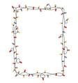 xmas light bulbs frame rectangle shape vector image