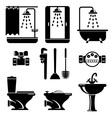 bathroom equipment vector image