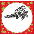 man riding mountain bike jumping vector image