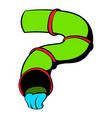 water slide icon icon cartoon vector image