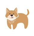 cute dog logo vector image