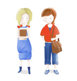 Young Students vector image
