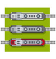 electric locomotive of railways top view from vector image