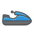 jet ski filled outline icon transport and vehicle vector image