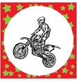 motocross rider on a motorcycle jumping vector image