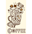 Abstract picture of a cup of coffee vector image