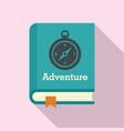 adventure book icon flat style