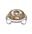 angry bundt cake mascot cartoon vector image vector image