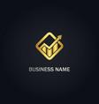 arrow up graph business logo vector image vector image