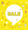 autumn sale bubble template banner vector image