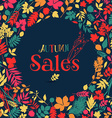 Autumn sales design vector image