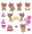 bear birthday copy vector image