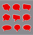 blank bubble stickers vector image vector image
