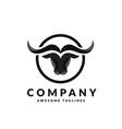 bull head logo vector image vector image