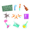 chemist scientist and chemical science related vector image