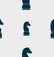 Chess knight icon sign Seamless pattern with vector image vector image