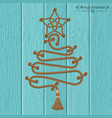 christmas tree from ropes vector image vector image