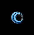 circle blue round technology logo vector image
